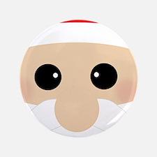 """Santas Closeup Funny 3.5"""" Button"""