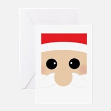 Santas Closeup Funny Greeting Card