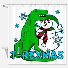 T Rexmas Shower Curtain