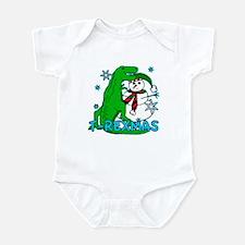 T Rexmas Infant Bodysuit