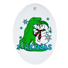 T Rexmas Ornament (Oval)