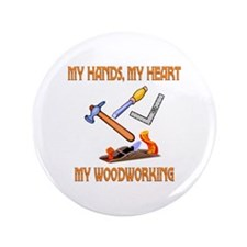 """Woodworking 3.5"""" Button (100 pack)"""