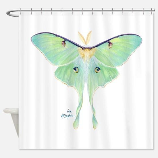 Luna moth Shower Curtain