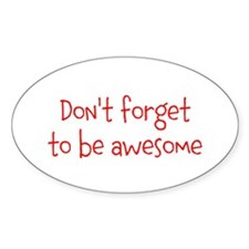 Be Awesome Decal