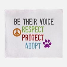 Respect Protect Adopt Throw Blanket