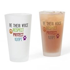 Respect Protect Adopt Drinking Glass
