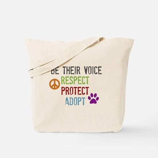 Respect Protect Adopt Tote Bag