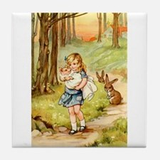 Alice and the Pig Baby Tile Coaster