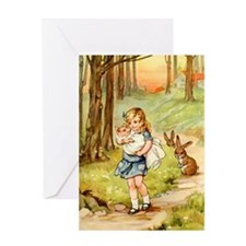 Alice and the Pig Baby Greeting Card