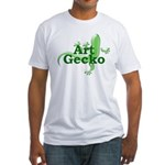 Art Gecko Fitted T-Shirt