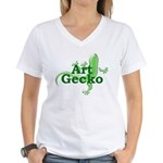 Art Gecko Women's V-Neck T-Shirt