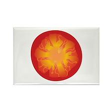 Tomato Slice Rectangle Magnet
