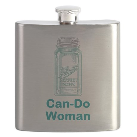 Can-Do Woman Flask