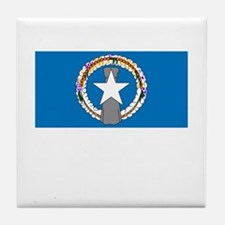 The Northern Mariana Islands Flag Picture Tile Coa
