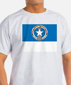 The Northern Mariana Islands Flag Picture Ash Grey