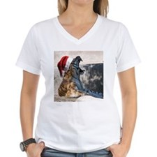 Santa Hat Bengal Tiger Shirt