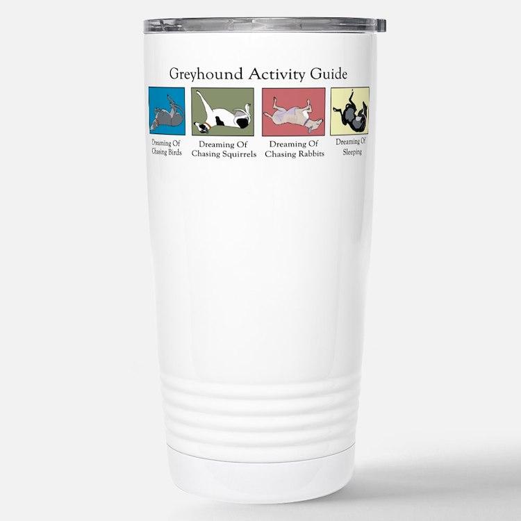 Cute Greyhound Travel Mug