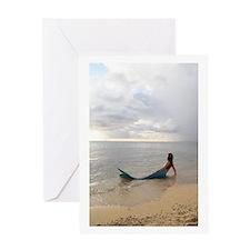 Secret Mermaid Beach Greeting Card