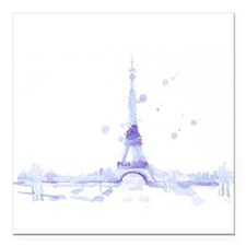 """Abstract Eiffel Tower Square Car Magnet 3"""" x 3"""""""