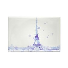 Abstract Eiffel Tower Rectangle Magnet