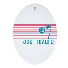 Stripe Just Maui'd '12 Ornament (Oval)