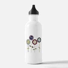 Button Flowers Water Bottle