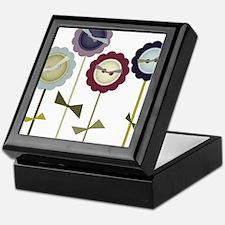 Button Flowers Keepsake Box