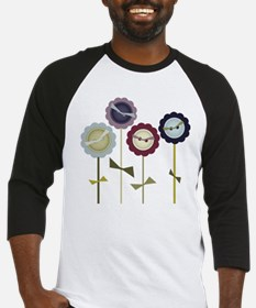 Button Flowers Baseball Jersey