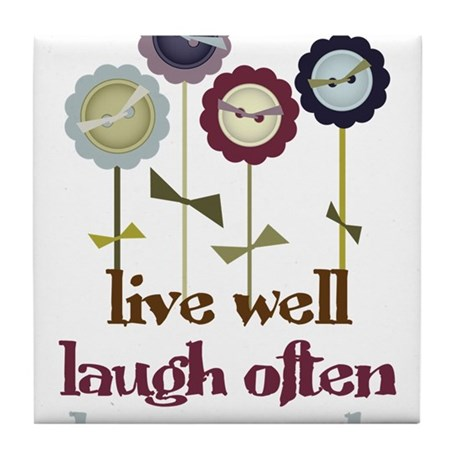 Live Well Tile Coaster