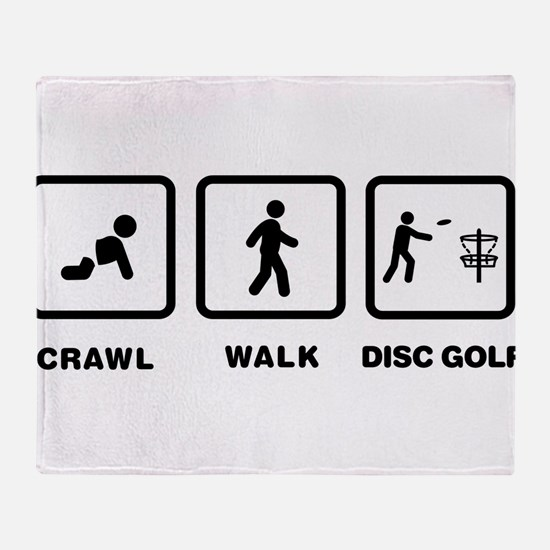 Disc Golfing Throw Blanket