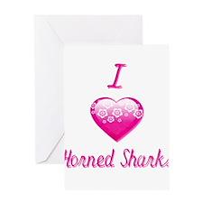 I Love/Heart Horned Sharks Greeting Card