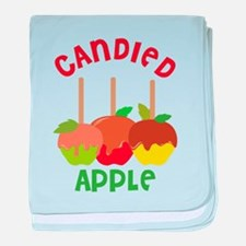Candied Apple baby blanket