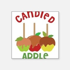 "Candied Apple Square Sticker 3"" x 3"""