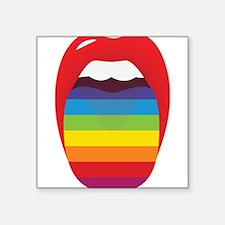 "Lipstick Lesbian Domination Square Sticker 3"" x 3"""
