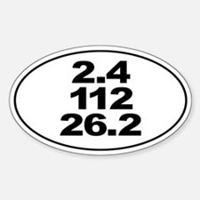 Ironman Triathlon Distances Sticker Sticker (Oval)