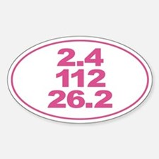 Ironman Triathlon Distances Sticker (Oval)