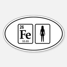 Ironwoman Element Sticker (Oval)
