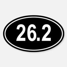 26.2 Marathon Oval Sticker (Oval)