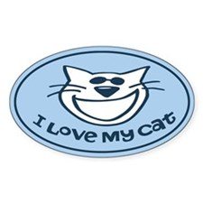 I Love My Cat Auto Stickers