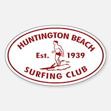 Huntington Beach Surfing Club Auto Decal