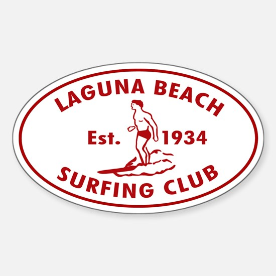 Laguna Beach Surfing Club Sticker (Oval)