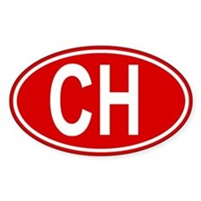 Swiss CH red oval auto sticker