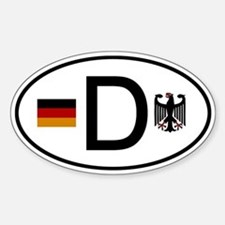 German D Flag and Eagle Oval Decal
