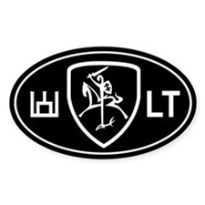 Black and White Vytis Bumper Stickers