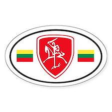 Red Vytis Bumper Stickers