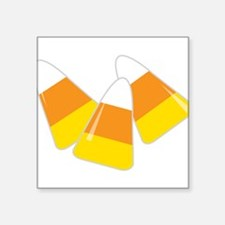 "Candy Corn Square Sticker 3"" x 3"""