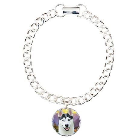 Husky Meadow Charm Bracelet, One Charm