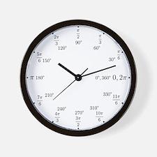 Unique Trigonometry radians Wall Clock