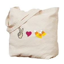 Peace Love Candy Tote Bag