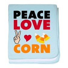 Peace Love Corn baby blanket
